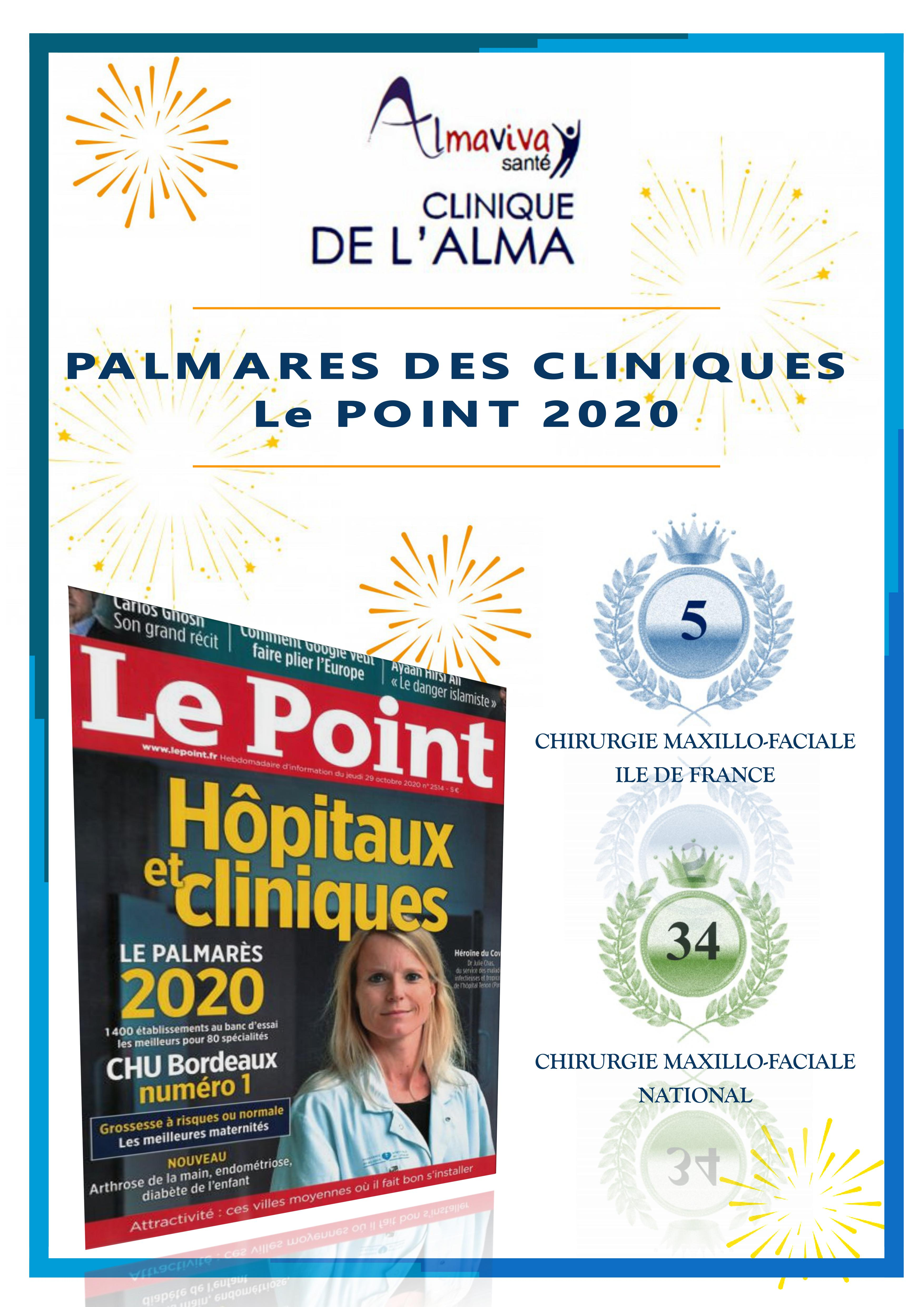 CLASSEMENT DES CLINIQUES 2020 - LE POINT